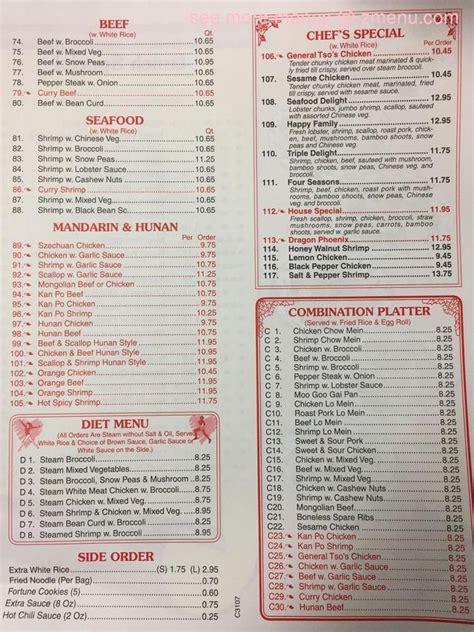menu  china house restaurant zimmerman