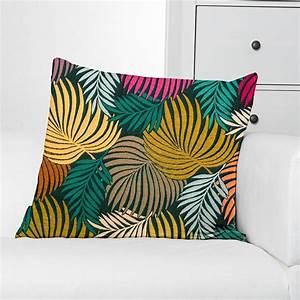 Tissu Imprimé Tropical : jacquard imprim tropical multicolore pas cher tissus price ~ Teatrodelosmanantiales.com Idées de Décoration