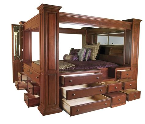 Size Canopy Bed Frame by Wood Bed Frames For Size Bed