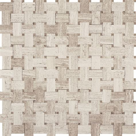 basket weave marble basketweave marble mosaic tile white oak wood silver beige basket weave with athens gray