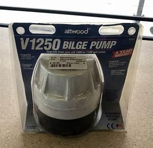 Attwood V1250 Bilge Pump  1250 Gph Pump 12vdc 36 U0026quot  Wire