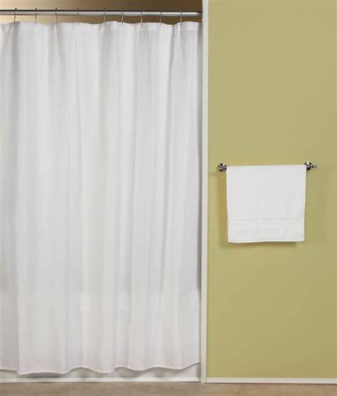 Carlton White Fabric Shower Curtain  Curtain & Bath Outlet