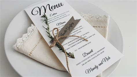 diy ribbon style wedding place card tutorial by paper alphabet
