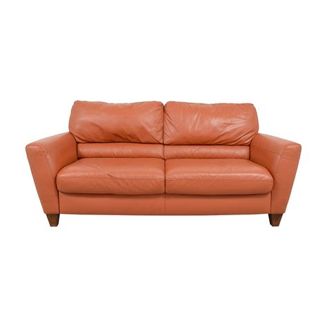 Orange Leather Loveseat by Burnt Orange Leather Sofa Www Gradschoolfairs