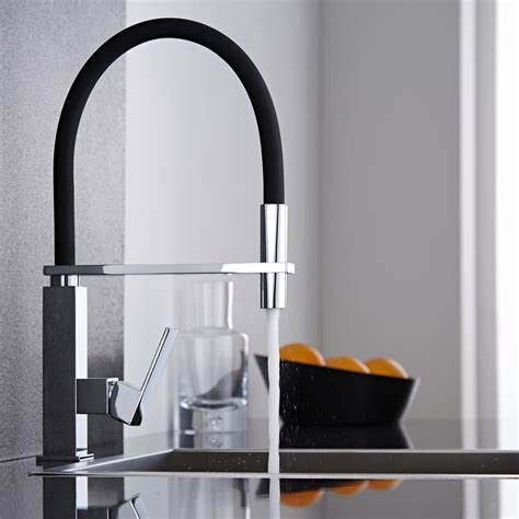 mitigeur noir cuisine davaus robinet cuisine design noir avec des idées