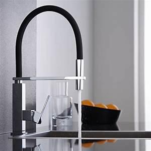 davausnet robinet cuisine design noir avec des idees With robinet de cuisine design