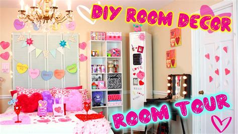 Diy Room Tour!?  Valentine Edition!  Diy Decor Ideas For Vday  Easy Dollar Store Diys! Youtube
