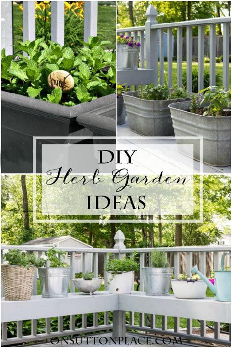 diy container herb garden ideas