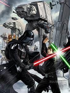 Star Wars Vorhänge : darth vader vs luke skywalker star wars pinterest ~ Lateststills.com Haus und Dekorationen