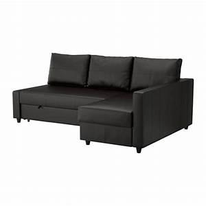friheten canape lit d39angle avec rangement bomstad noir With canapé lit rangement