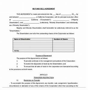 20 buy sell agreement templates free sample example With selling a business contract template