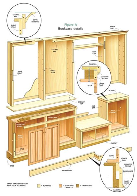 Wall To Wall Bookcase Plans by Home Dzine Home Diy Build A Custom Wall Unit