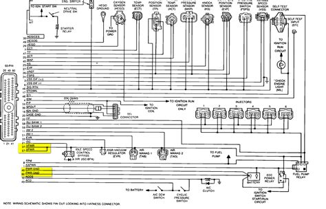 Ford Fuel Injector Wiring Diagram 2009 by 1988 Ford Pu 1 2 Ton 2wd 4 9l Cranks Won T Start
