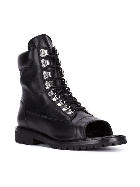balmain open toe boots  black  men lyst