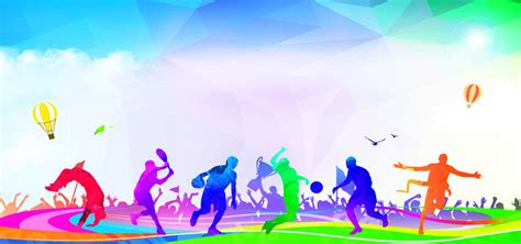 outdoor sports passion carnival flat  colorful banner