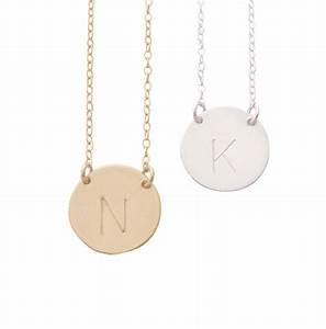 misuzi chloe initial necklace hunter store With chloe letter necklace
