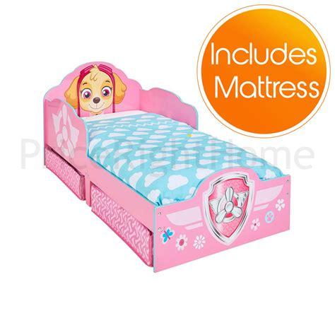 Paw Patrol Skye Toddler Bed With Underbed Storage Kids