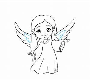 Angel With Wing Drawing At Getdrawings