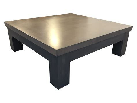"""It's a square construction made of tempered glass, which you can open on two sides to have extra storage space. 48"""" Square Coffee Table • The Local Vault"""