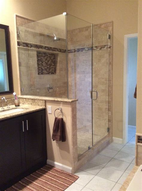 Bathroom Stand Up Shower by Newly Remodeled Stand Up Shower With Beautiful Tile Work