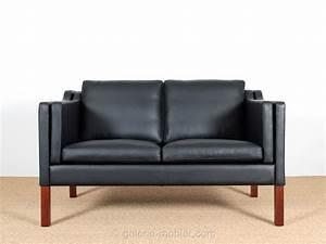 canape danois 2 places en cuir galerie mobler With canape en cuir deux places