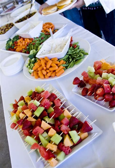 easy food ideas for the wedding meal or maybe for the spare time in between the ceremony