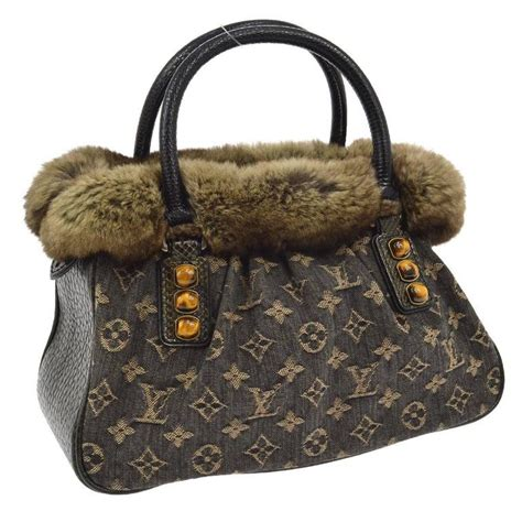 louis vuitton limited edition brown monogram fur top