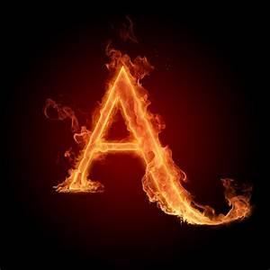 A in fire | Alphabet on fire | Pinterest