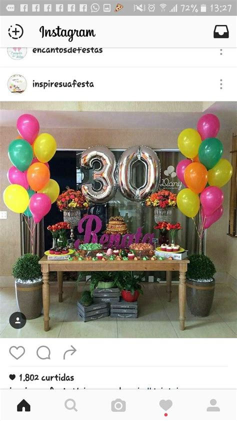 festa adulta arreglos birthday party decorations