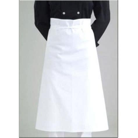 tablier professionnel cuisine tablier cuisine roi du tablier blanc trousseau