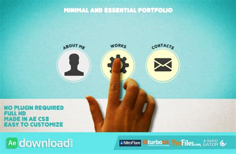 videohive after effects templates minimal and essential portfolio videohive project free free after effects