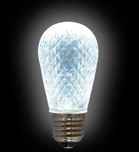led s14 light bulb medium base faceted bulb cool white