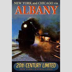 Albany New York Central Railroad 20th Century Limited Train Poster Art Print 221 Ebay