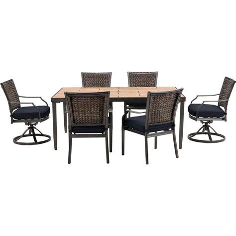 hanover mercer 7 all weather wicker patio dining set