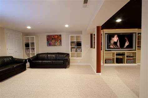 small basement remodel Spaces Traditional with basement