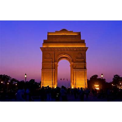 The India Gate New DelhiSee big on black Images from