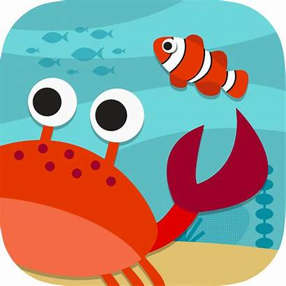 Sea Under Scene Ocean Drawing Animated Children