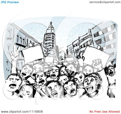 free royalty free clipart vector clipart of children of the revolution shouting in a