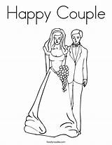 Coloring Pages Couple Happy Bride Groom Anniversary Rapunzel Dad Mom Printable Married Flynn Drawings Twistynoodle Getcolorings Colorin Getdrawings Colorings 56kb sketch template