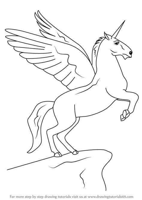 learn   draw  unicorn  wings unicorns step