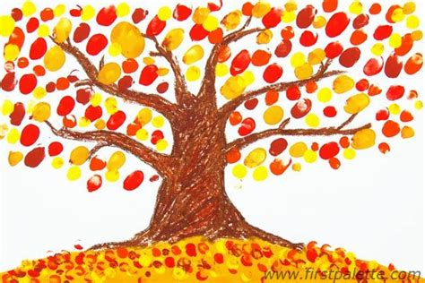 finger paint tree    toddlers  time favorite