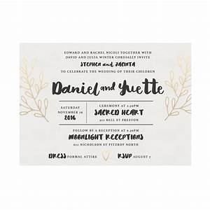ornamental watercolour wedding invitation australia With formal wedding invitations australia