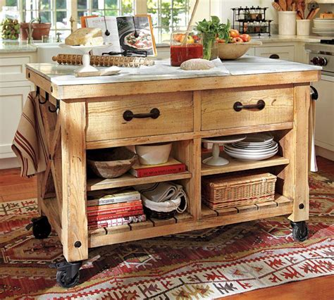 kitchen island with wheels 15 reclaimed wood kitchen island ideas rilane 5232