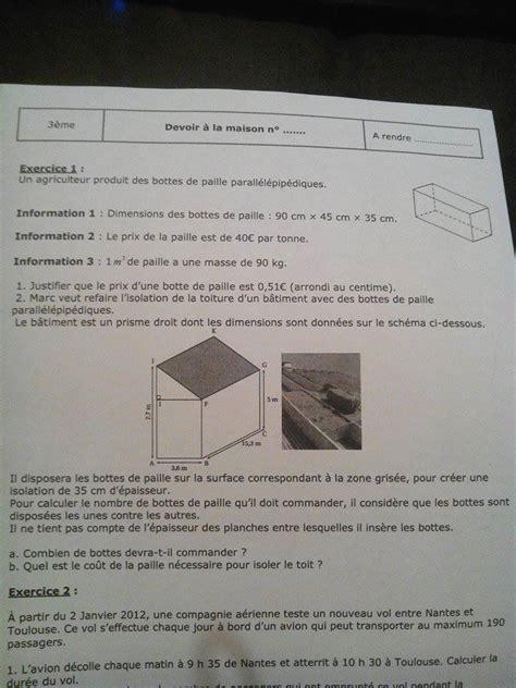 devoir maison maths 3eme devoir maison mathematiques 3eme bonjour j ai vraiment vraiment besoin d aide pour mon