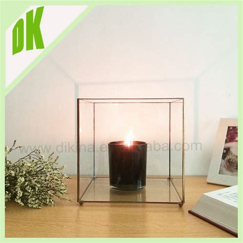 outdoor hanging glass ball candle tealight holder clear