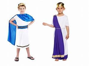 Boys Roman Emperor Julius Caesar Greek Toga King Kids ...