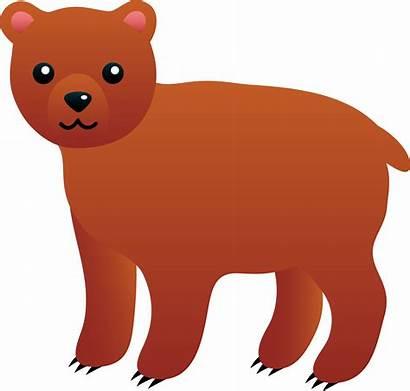Bear Brown Clip Clipart Grizzly Cartoon Cub