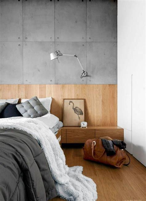 Holz Auf Beton by Schlafzimmer Design Mit Holz Und Beton Spaces Living