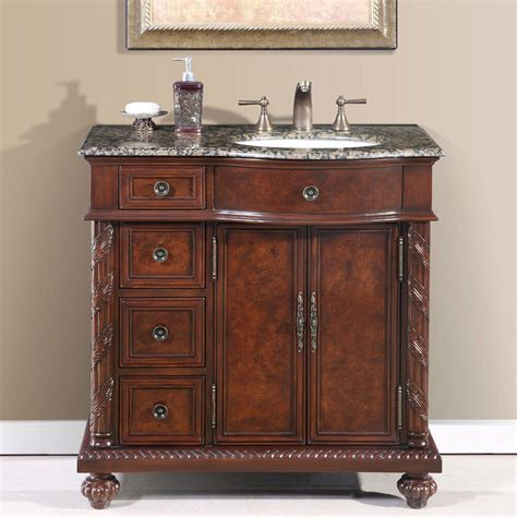 single bathroom vanity  center  sink stone
