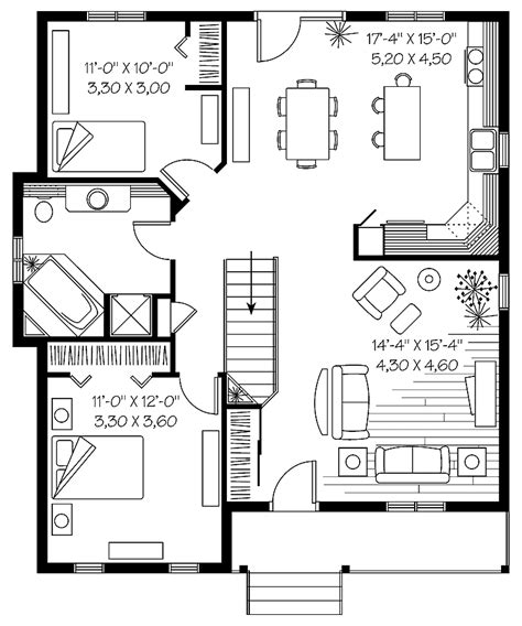 simple  story house plan medium  story houses single story bungalow house plans